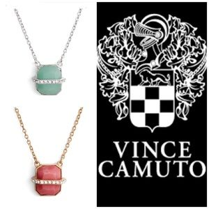Vince Camuto Trapped Semiprecious Stone Necklace